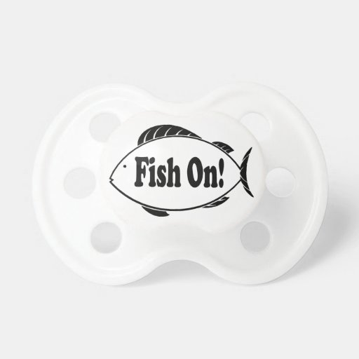 Fish On BooginHead Pacifier