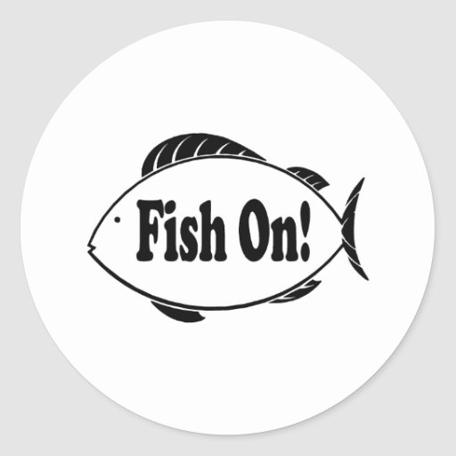 Fish On Classic Round Sticker