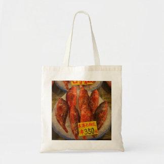 Fish on ice bag
