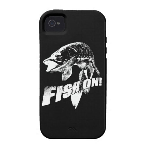 Fish on musky iPhone 4 cover