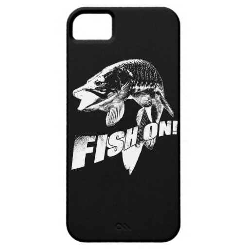 Fish on musky iPhone 5 cover