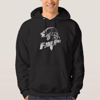 Fish on musky hoodie