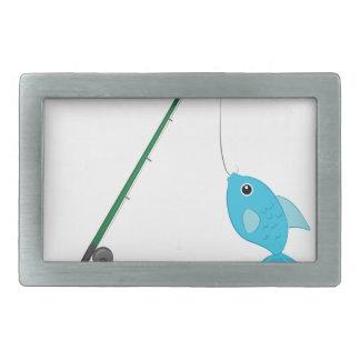 Fish On Pole Belt Buckle
