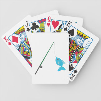 Fish On Pole Bicycle Playing Cards
