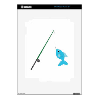 Fish On Pole Decals For iPad 2