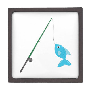 Fish On Pole Keepsake Box