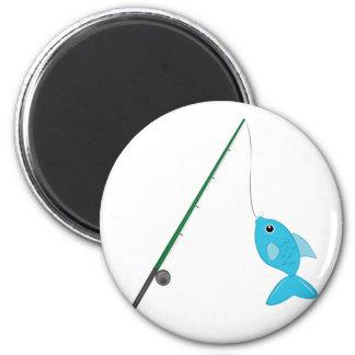 Fish On Pole Magnet