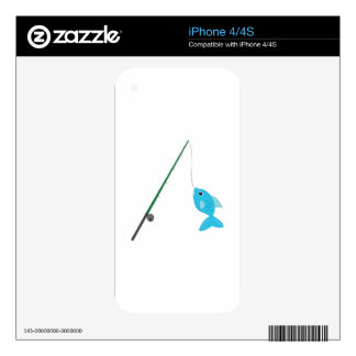 Fish On Pole Skin For The iPhone 4S