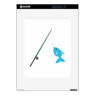 Fish On Pole Skins For iPad