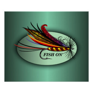 Fish On Poster
