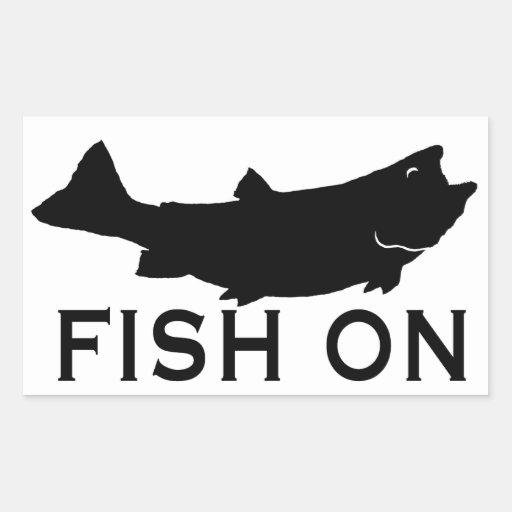 Fish On Rectangular Sticker