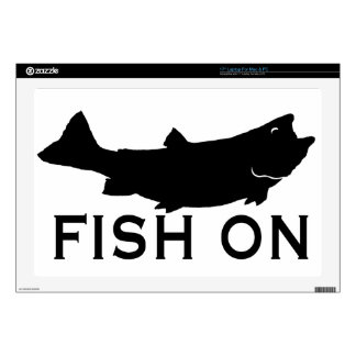 Fish On Decals For Laptops