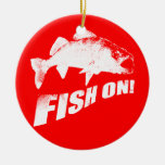 Fish on walleye christmas ornaments