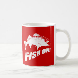 Fish on walleye coffee mug