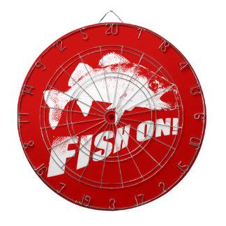Fish on walleye dartboard