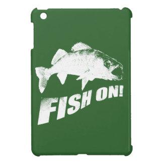 Fish on walleye iPad mini cases