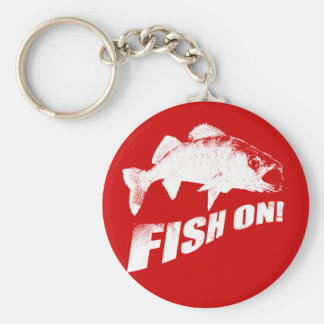 Fish on walleye keychain