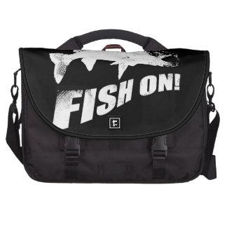Fish on walleye commuter bag