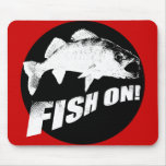 Fish on walleye mouse pad