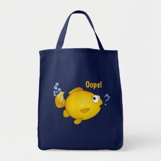 Fish Oops! Goldfish cartoon gift bag. Tote Bag