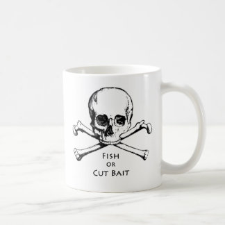 """Fish or Cut Bait"" Jolly Roger Pirate Logo Coffee Mug"