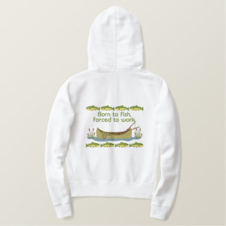Fish or Work Embroidered Hoodie