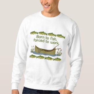 Fish or Work Embroidered Sweatshirt