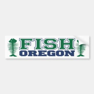 Fish Oregon Car Bumper Sticker
