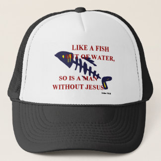 FISH OUT OF WATER TRUCKER HAT