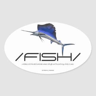 FISH OVAL STICKER