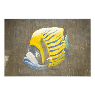 Fish painting on a wall photo