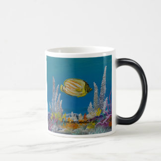 Fish painting on magic mug