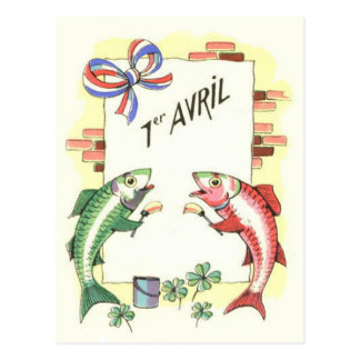 Fish Painting Wall French Postcard