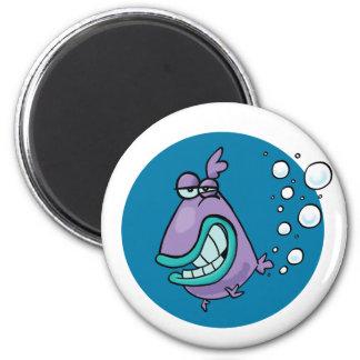 Fish PARP! 2 Inch Round Magnet