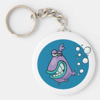Fish PARP! Basic Round Button Keychain