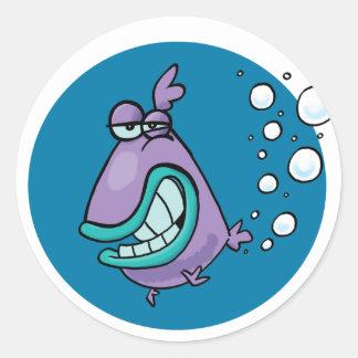 Fish PARP! Classic Round Sticker