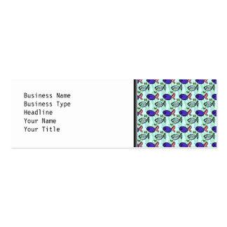 Fish Pattern. Blue Fish Ghost Fish. Mini Business Card