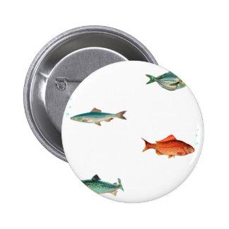 Fish Pattern 2 Inch Round Button