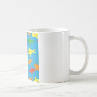Fish pattern coffee mug
