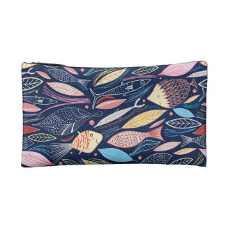 fish pattern cosmetic bag