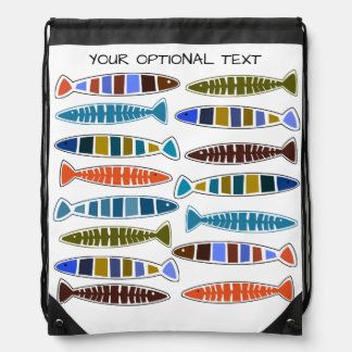 Fish Pattern custom text backpack