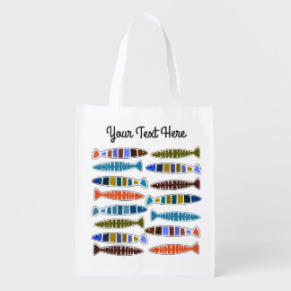 Fish Pattern custom text reusable bag
