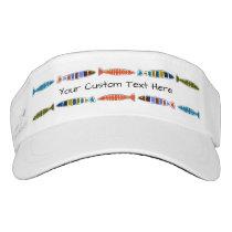 Fish Pattern custom text visors