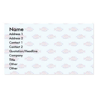 Fish Pattern on Blue. Red Line Rainbowfish. Business Card