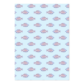 Fish Pattern on Blue. Red Line Rainbowfish. Large Business Card