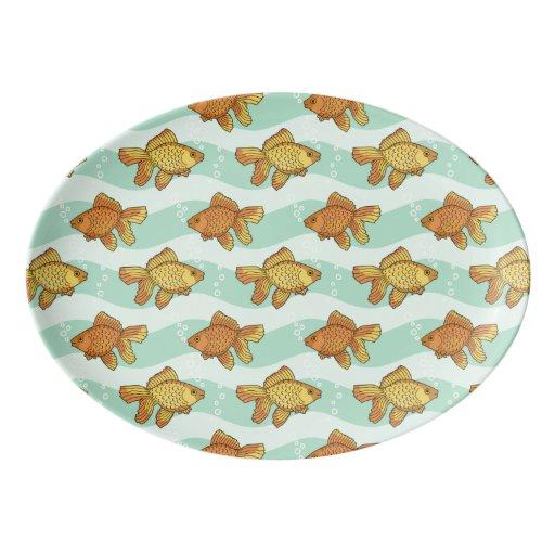 Fish pattern porcelain serving platter zazzle for Fish serving platter