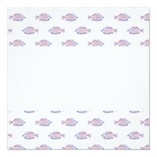 Fish Pattern. Red Line Rainbowfish. Card