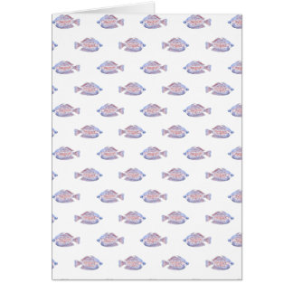 Fish Pattern. Red Line Rainbowfish. Card