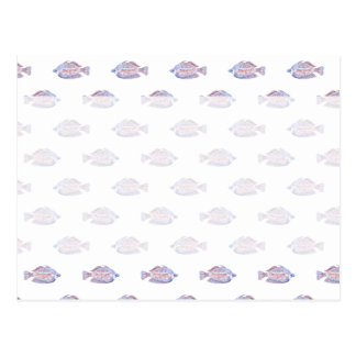 Fish Pattern. Red Line Rainbowfish. Postcard