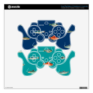 Fish Pattern Skin For PS3 Controller